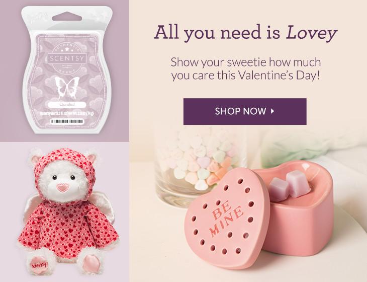 Scentsy Valentines Warmer Bear