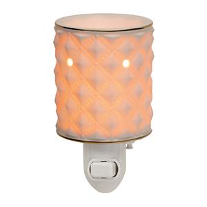 Scentsy Diamond Milk Glass Nightlight Warmer