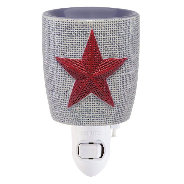 Scentsy Burlap Star Mini Warmer