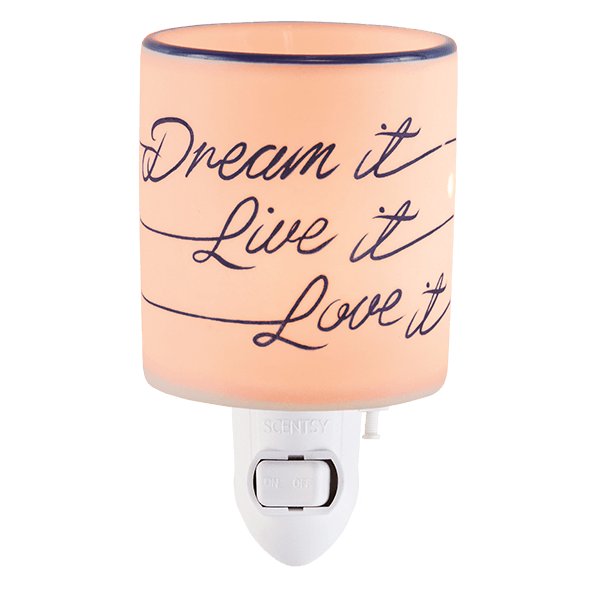 Scentsy Dream It Live It Love it Mini Warmer