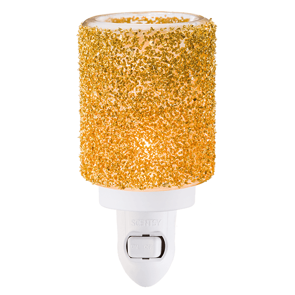 Scentsy Gold Glitter Mini Warmer