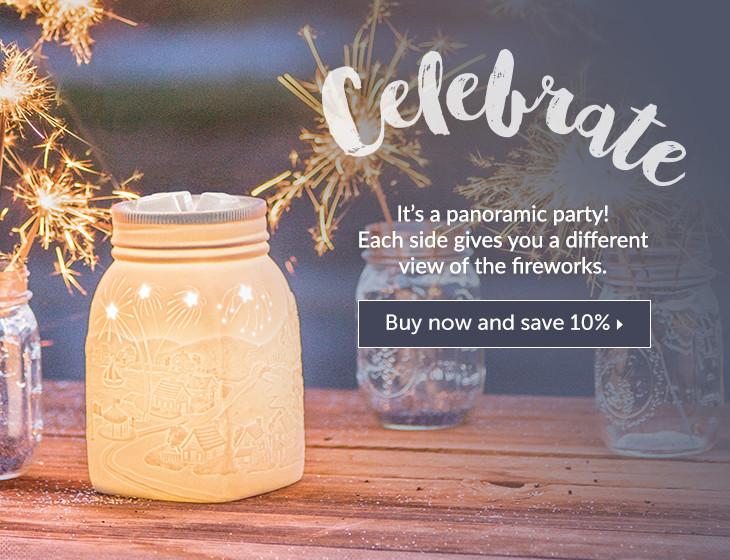 Scentsy Jar Warmer Fireworks