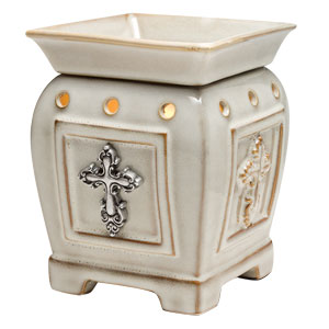 Scentsy Cross Devoted Warmer Premium  Full-size cream