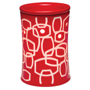 Scentsy red Kaleidoscope Funhouse warmer