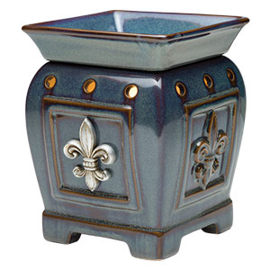 Scentsy Regal Boy Scout Warmer Blue Fleur de lis Premium Full-size