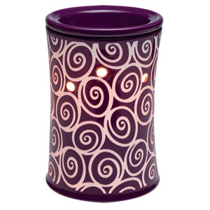 Scentsy Whirlygig purple swirls Premium Warmer