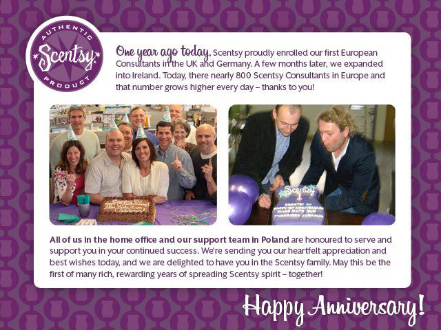 Scentsy EU one year