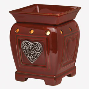 Heartfelt Scentsy Warmer Premium Full-size red heart
