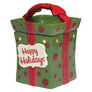 Scentsy wrapped present Christmas warmer