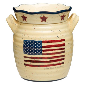 God Bless Americana Flag Scentsy Warmer of the Month