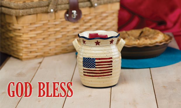 God Bless Americana Scentsy Warmer of the Month June