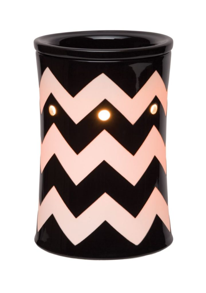 Chevron Scentsy Warmer Black