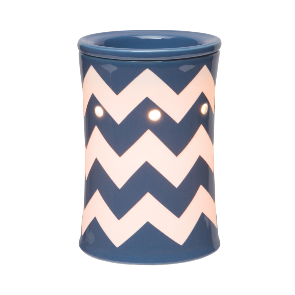 Chevron Scentsy Warmer Blue