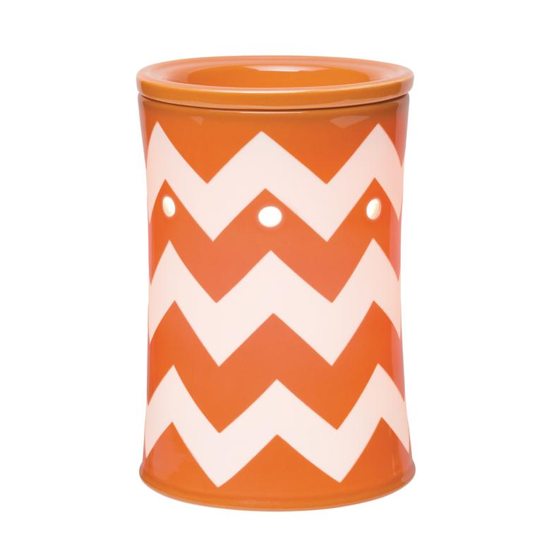 Chevron-Orange-Scentsy-Warmer