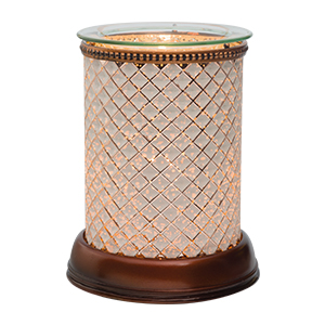 Cream Diamond Lampshade Scentsy Warmer