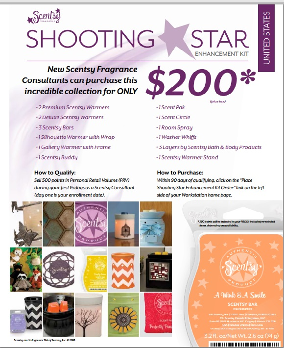 Join Scentsy Shooting Star Kit