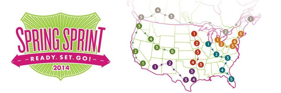 Scentsy Sprint Sprint 2014 map