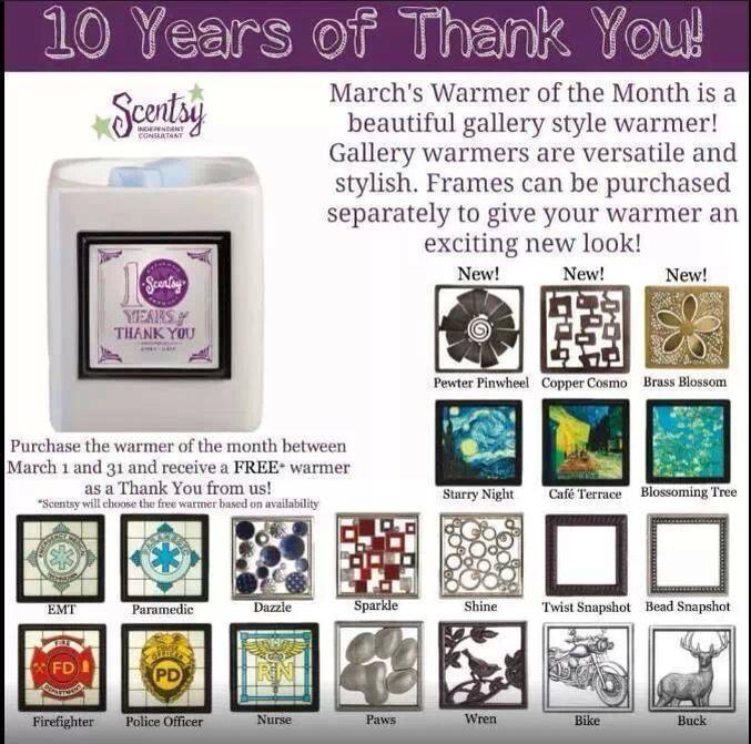 Scentsy Gallery Frame Warmer of the Month