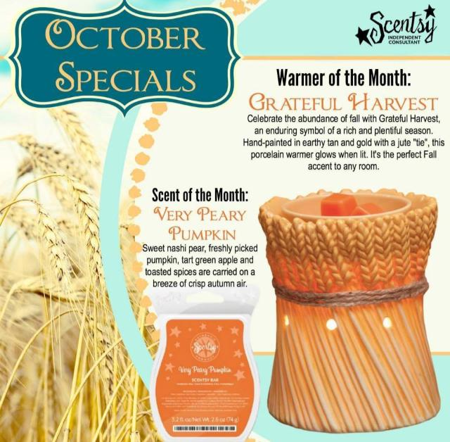 Scentsy Warmer of the Month October 2014