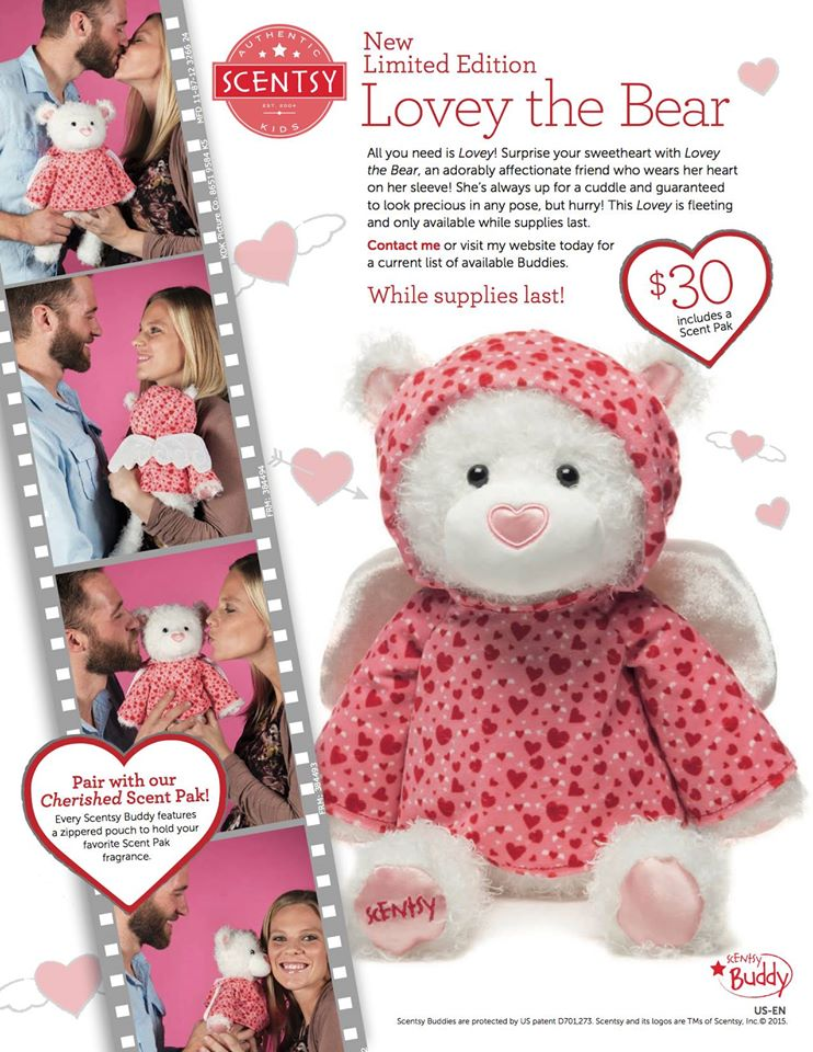 Lovey Bear Valentines Buddy