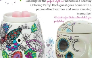 Scentsy coloring warmers