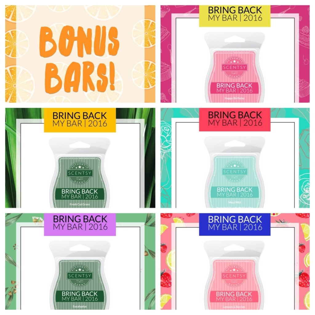 Scentsy Bring Back my Bar July 2016