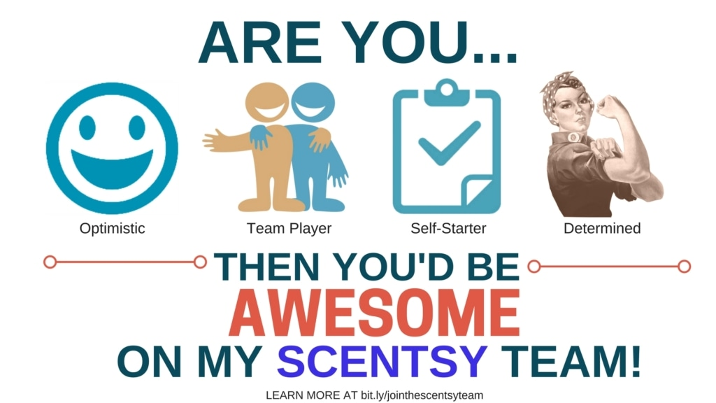 Join Scentsy Team Player Determined Optimistic Goal Setter