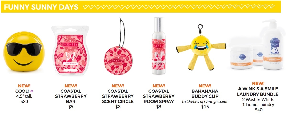 Funny Sunny Days Scentsy collection