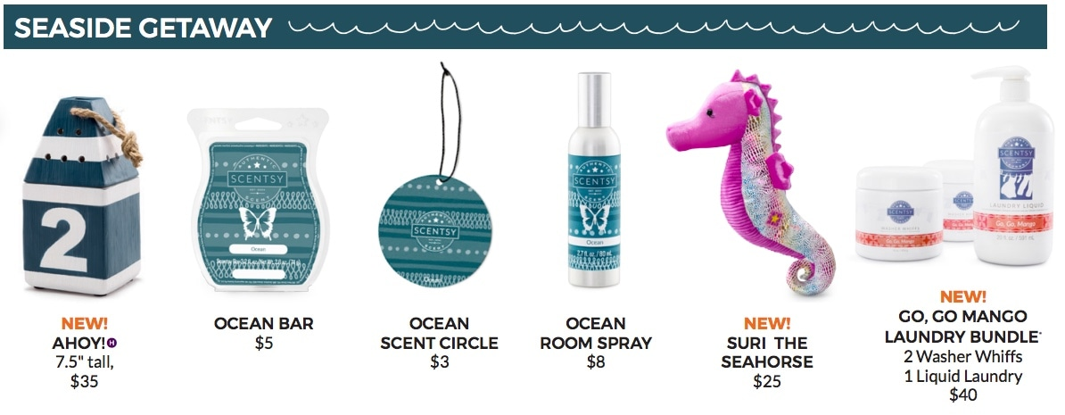Seaside Getaway collection buy Scentsy