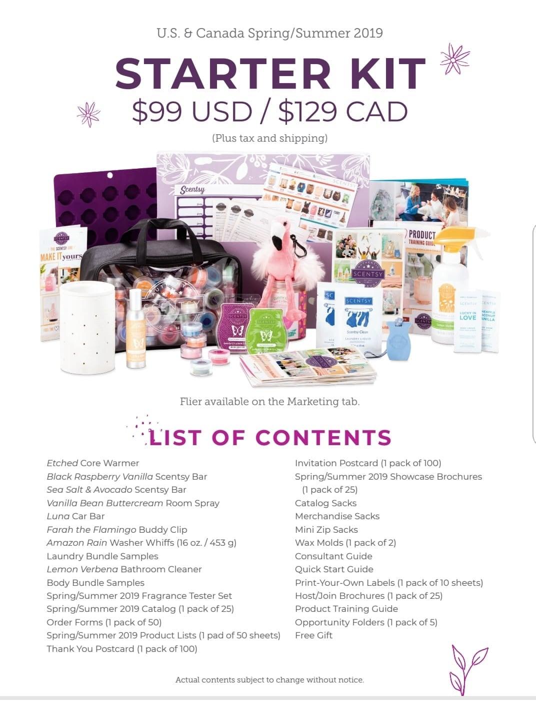 Scentsy Starter Kit 2019